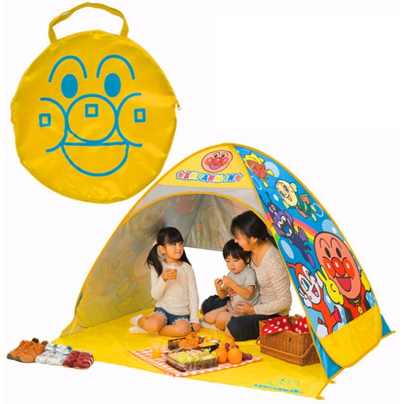 JAK ASH 春夏 麵包超人防曬登山露營帳篷兒童寶寶遊戲遮陽沙灘玩沙 開啟收納