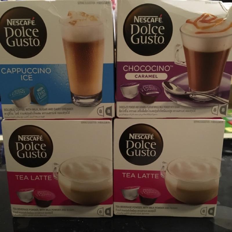 雀巢膠囊膠囊咖啡冰卡布奇諾焦糖巧克力紅茶拿鐵