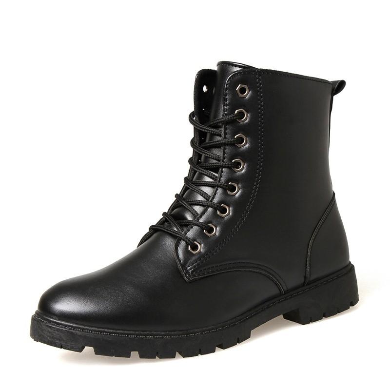 2016  軍靴男士馬丁靴 潮流工裝特種兵皮靴高幫沙漠男鞋男靴子