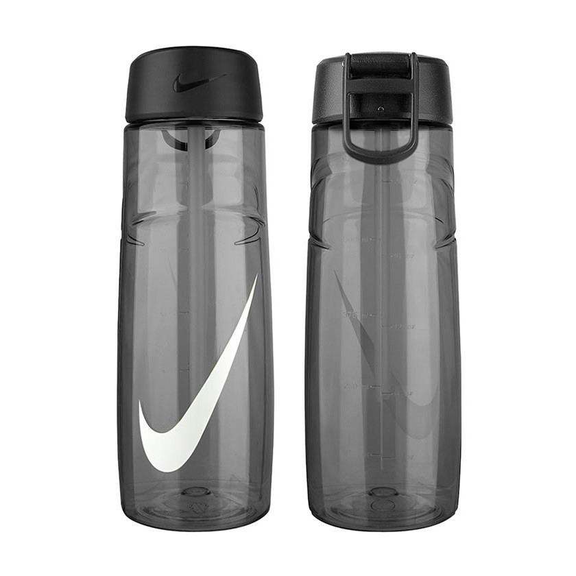 正品未拆封~Nike ~T1 訓練水壺24oz 中無吸管黑710ml 慢跑健身瑜珈重訓