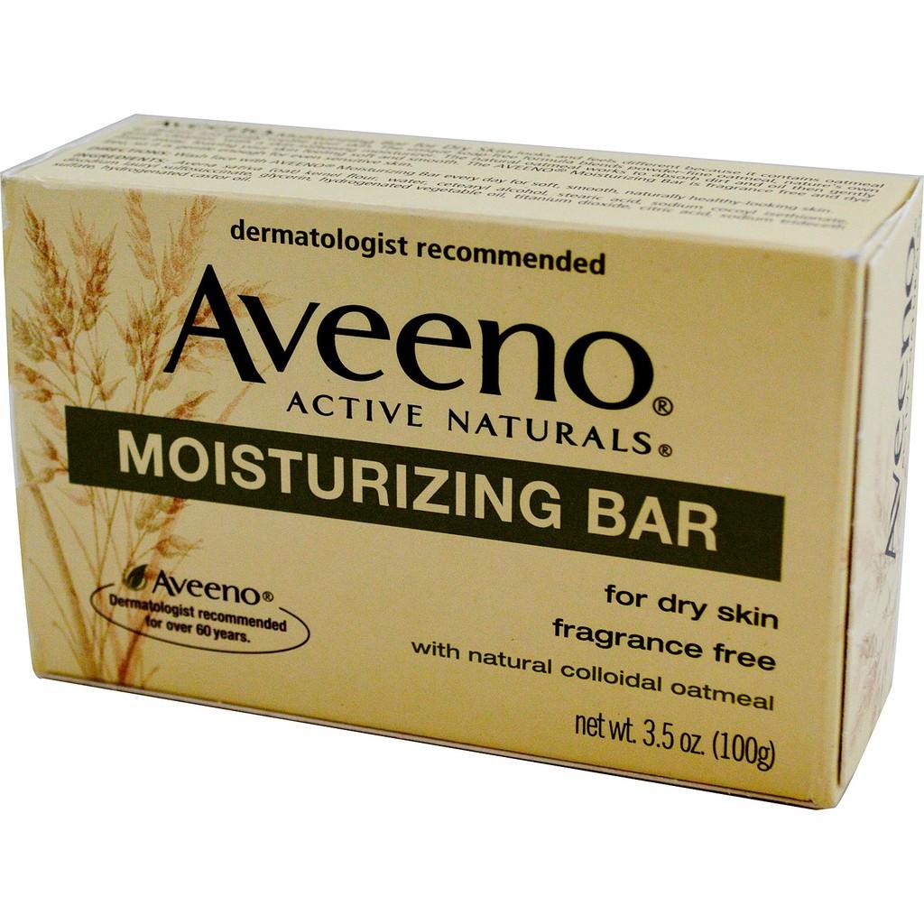美國 Aveeno 艾惟諾天然燕麥防敏保濕香皂無香低敏感性3 5 oz 100g