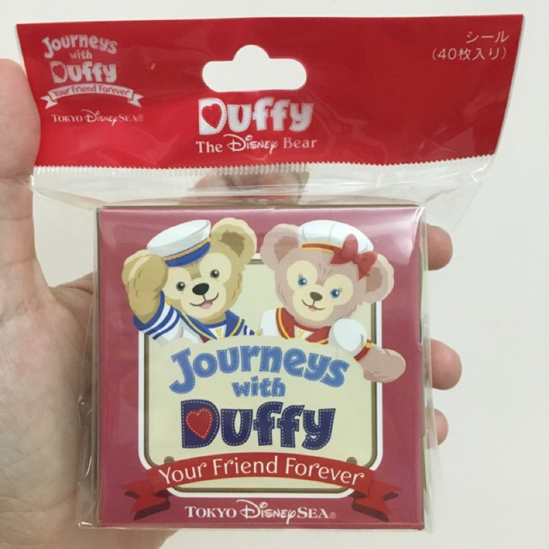 東京迪士尼海洋限定Duffy 達菲十週年 貼紙 !