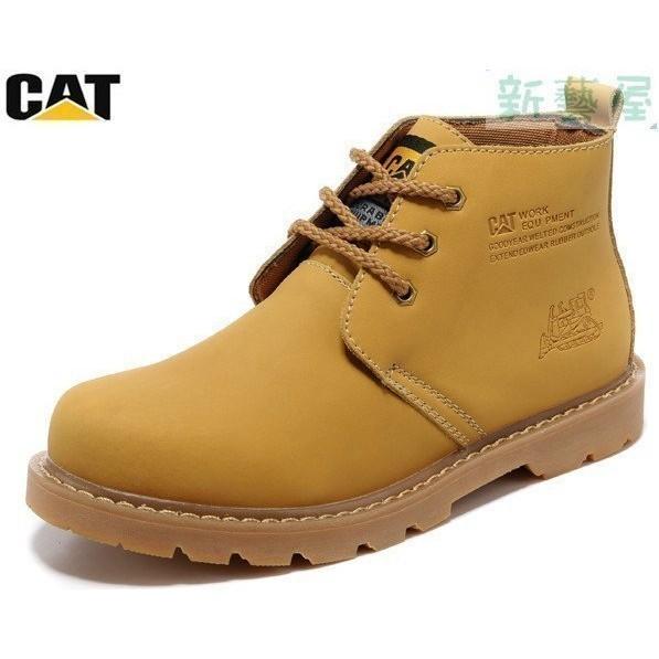 美國卡特CAT 男鞋正品女鞋休閒皮鞋大頭鞋高幫工裝鞋馬丁靴男靴子短靴戶外登山鞋情侶款 中靴