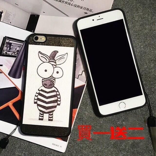 iPhone 6 6s 手機殼6plus 6splus5 5s 5se 情侶可愛蠶絲矽膠