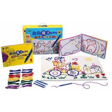 幼幼魔法黏線板大套幼兒玩具兒童玩具促進幼兒肌肉的發展促進全腦發展風車圖書風車寶貝手腦開發樂