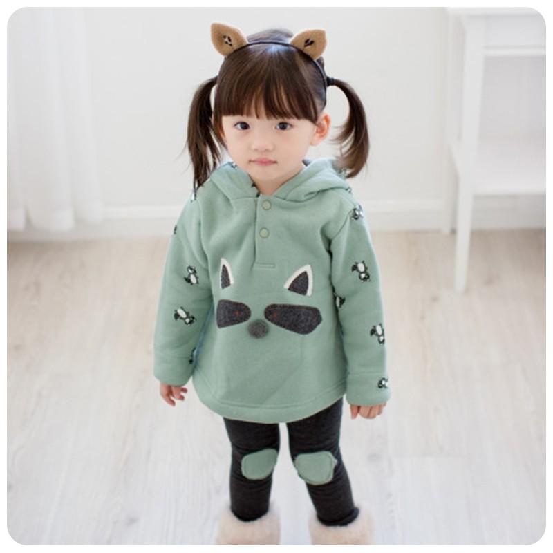 包郵女童可愛套裝2016  兒童小熊卡通 兩件套169517 愛泡