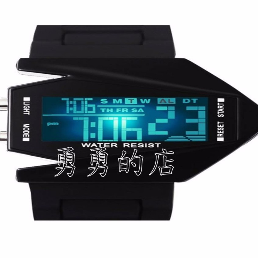 新潮款 電子手錶二色飛機手錶航空系電子手錶潮牌手錶果凍手錶led 手錶夜光戰斗飛機 男女電