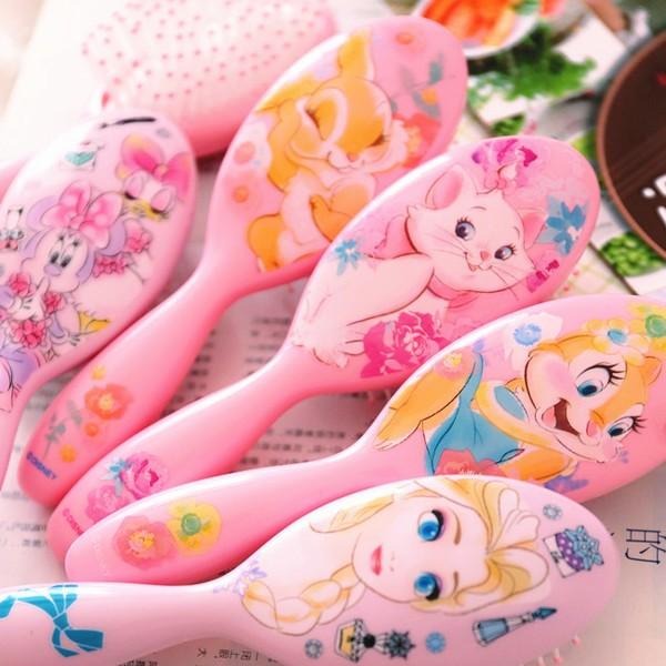 ⛱ ⛱超美膩女寶 迪士尼冰雪奇緣艾莎長髮公主米妮瑪麗貓邦妮兔花栗鼠梳子氣墊梳