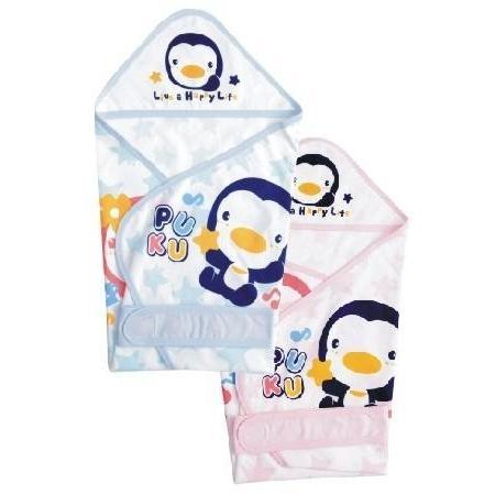 PUKU 藍色企鵝春夏單層包巾