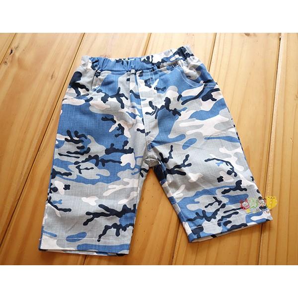 3043 中小童5 15 號海軍迷彩薄款五分褲平織褲短褲