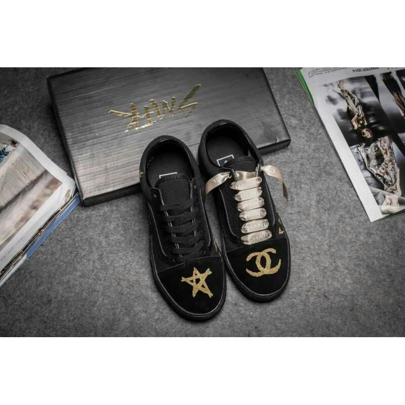VANS X CHANEL 聯名萬斯與香奈兒聯名款男女鞋 板鞋帆布鞋
