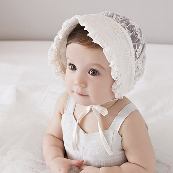 春夏款 嬰兒童盆帽公主帽子夏天寶寶涼帽女孩禮服蕾絲宮廷帽