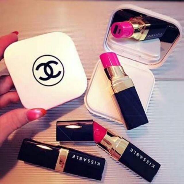 口紅唇膏充電寶便攜超薄鏡奢華款 移動電源