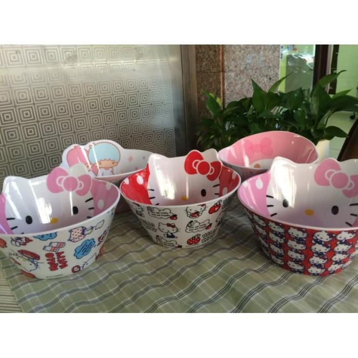 Hello Kitty 兒童餐具仿磁耐摔美耐皿碗
