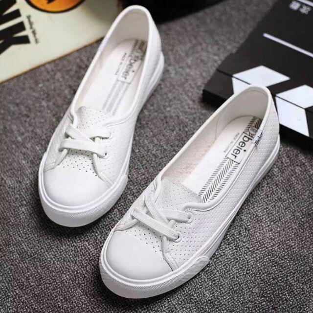 皮革透氣懶人鞋帆布鞋輕便鞋淑女帆布鞋非all star keds