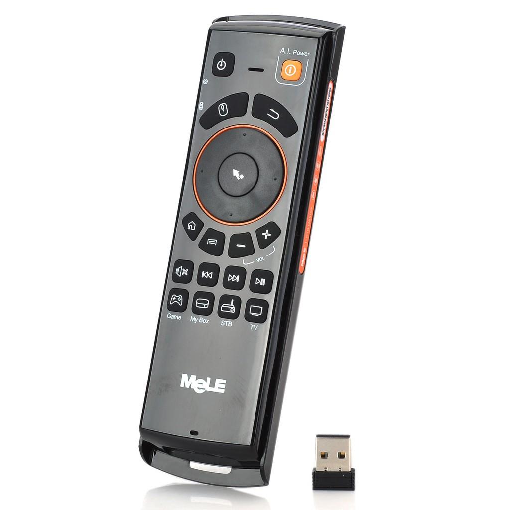 邁樂大飛鼠F10 空中滑鼠無線鍵盤遙控器黑色