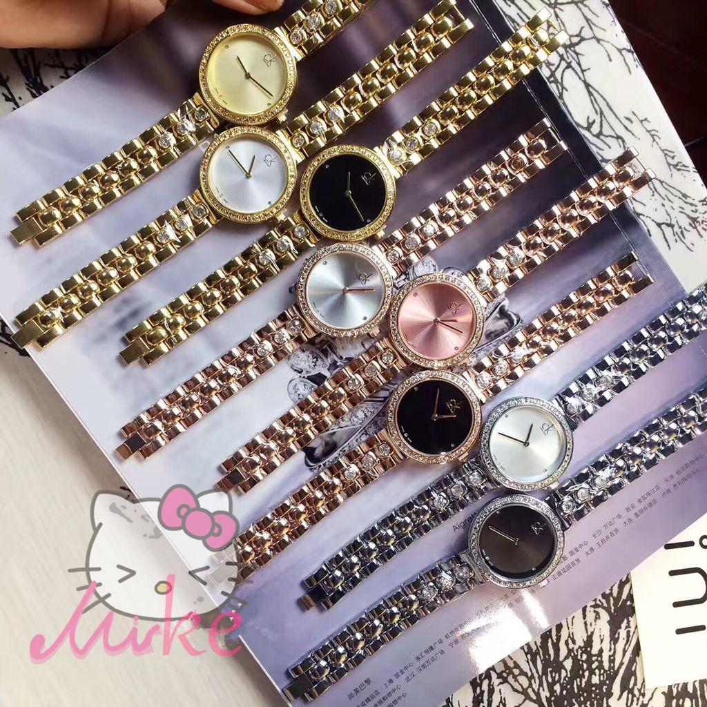 美國 CK Calvin Klein 手錶 手錶女錶CK 手錶潮流腕錶送女友百搭款圓形手錶