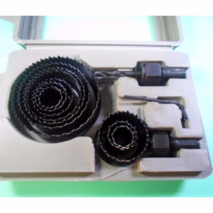 嘉億 套裝木工開孔器一組 12 件19mm 82mm 音響喇叭孔塑膠壓克力石膏木板