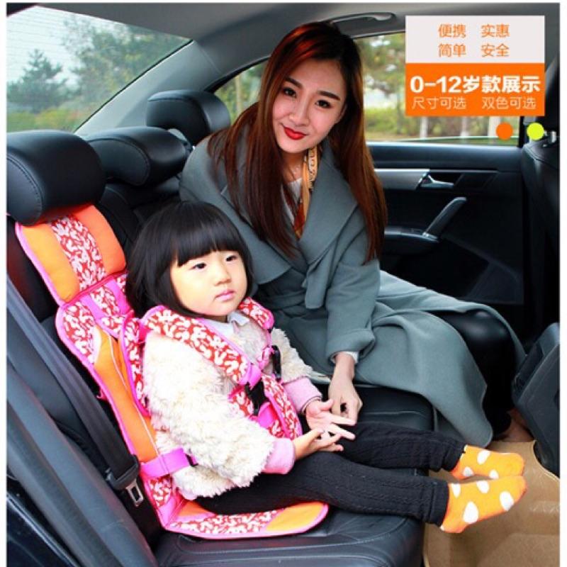 ~ ~簡易便攜式汽車用兒童安全座椅寶寶車載bb 安全帶揹帶嬰兒小孩坐椅汽車安全帶非機車兒童