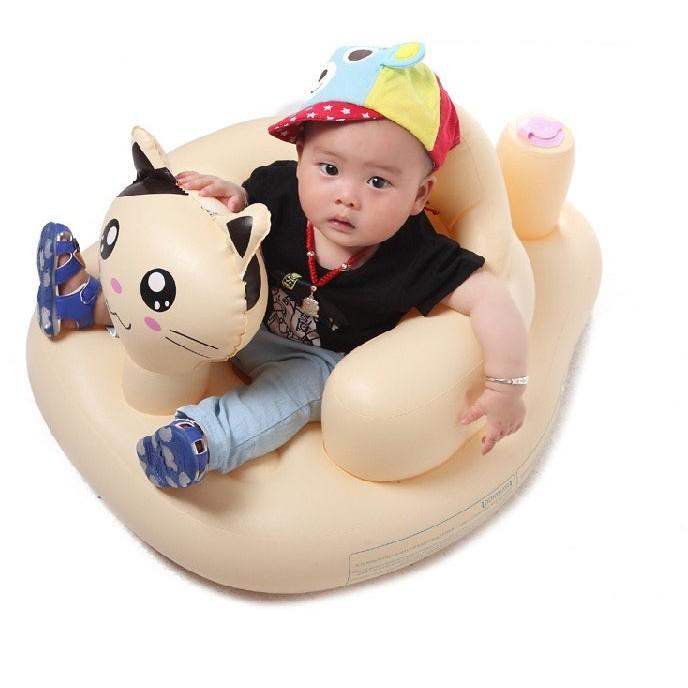~ ~→ 價 ←2016 加大加厚貓咪充氣椅兒童充氣浴凳寶寶嬰兒學坐椅寶寶餐椅類幫寶椅沙發