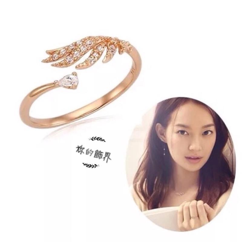 BD 韓風明星同款女神天使翅膀 微鑲鋯石工藝戒指