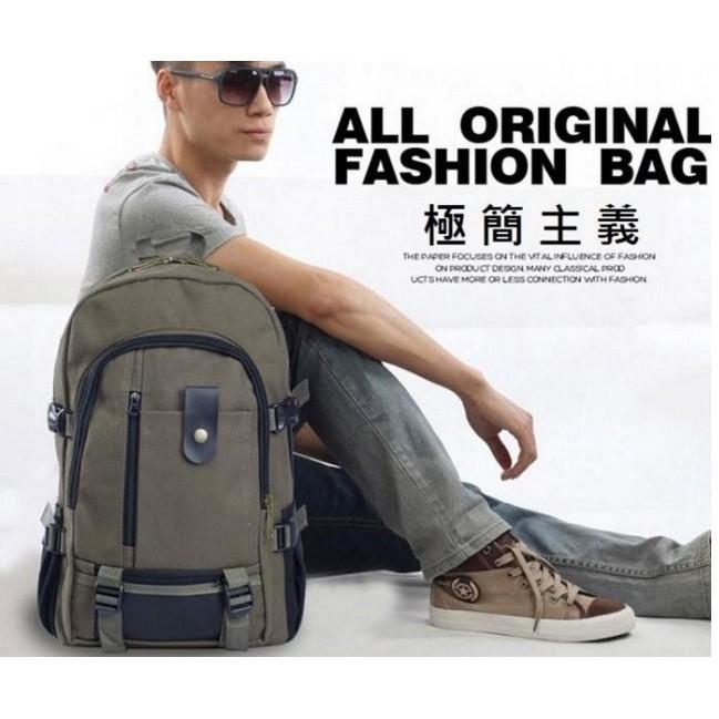 ~C K  ~ 防潑水帆布背包男用後背包肩背包登山包大容量可放平板書包上課用包筆記型電腦包