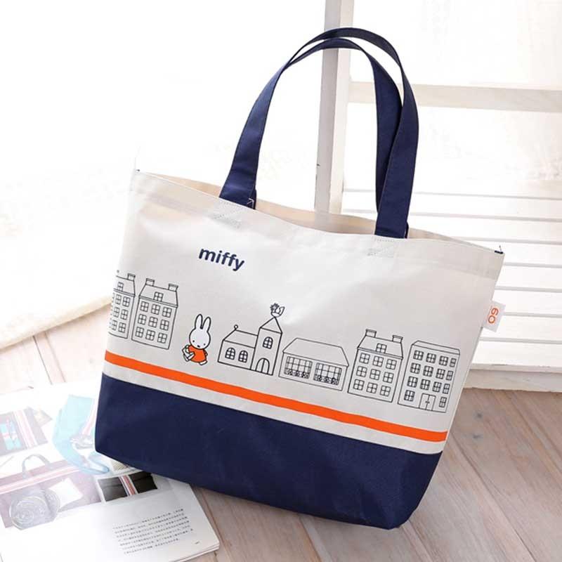 郵寄~霓娃娃小舖~ miffy 米菲兔側背包手提袋防水便當袋環保袋托特包小包包 袋