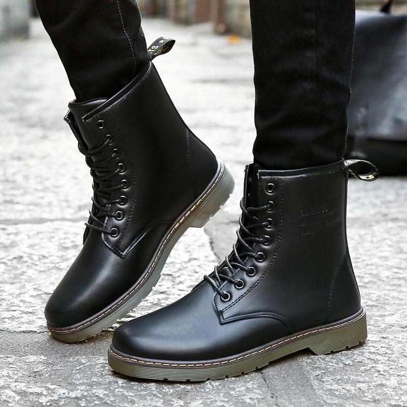 潮男 馬丁鞋 高幫鞋皮靴馬丁鞋 工裝馬丁靴戶外高幫鞋男士軍靴皮鞋雪地靴短靴子男靴軍靴