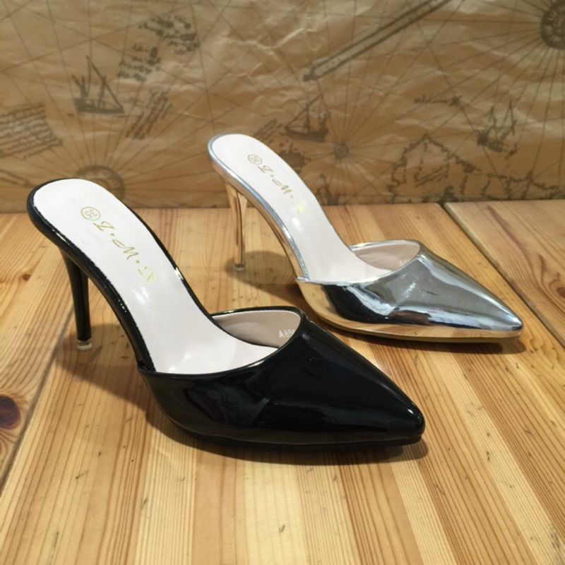 唯美氣質 尖頭細跟拖鞋包頭高跟鞋