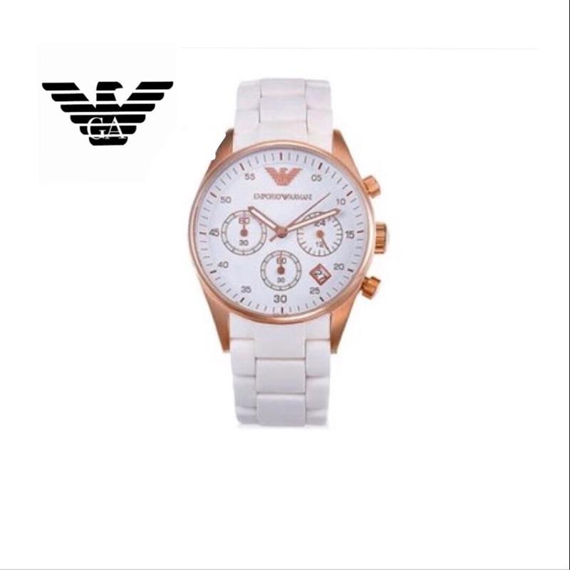 潮流會社 阿瑪尼EMPORIO ARMANI AR5920 鈦鋼玫瑰金三環手錶