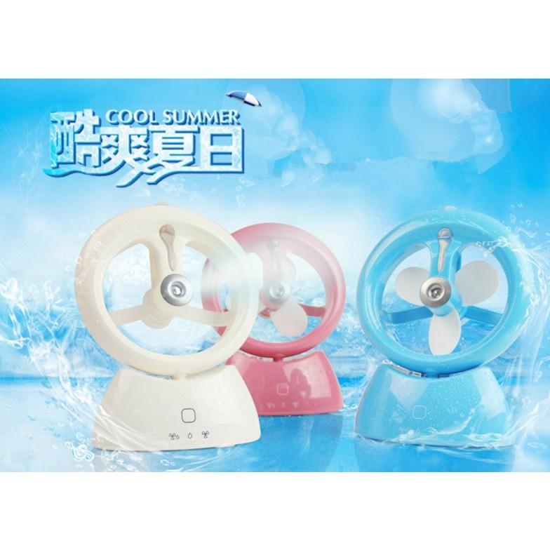 加濕器USB 充電風扇迷你扇桌扇立扇學生宿舍辦公室水氧機加濕機非水冷扇空調扇