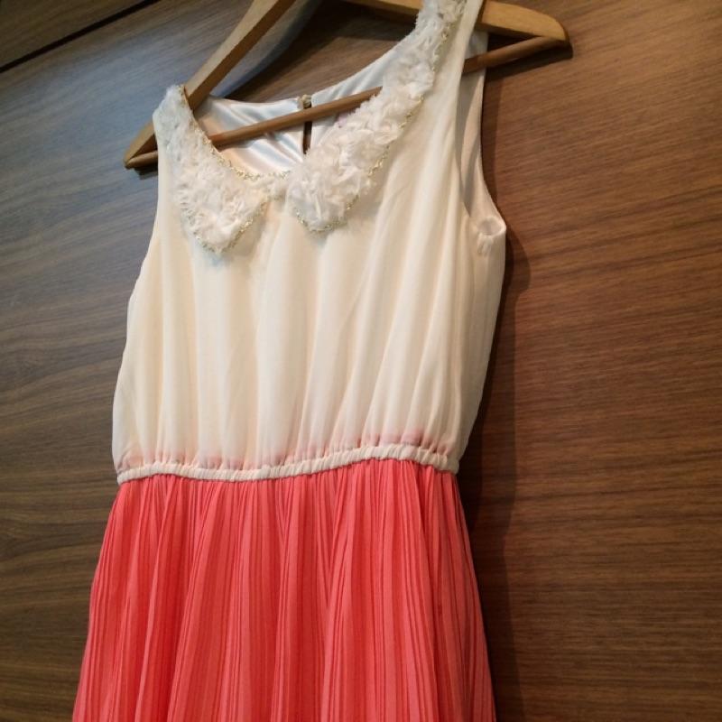 粉色氣質小洋裝