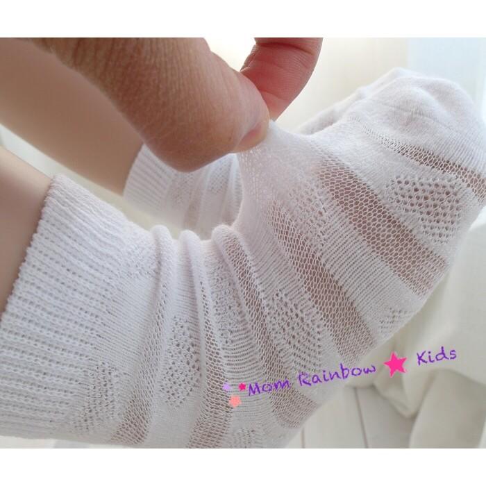 寶寶超薄網眼網紗薄款純棉條紋童襪