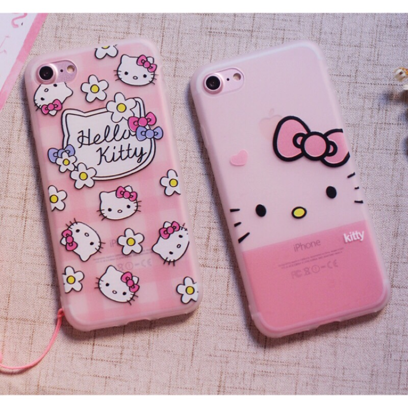 Hello Kitty 霧面磨砂掛繩手機殼iPhone i6 6s 6plus i7 7