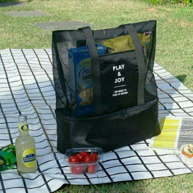 手提雙層野餐包n n (預計10 13 開始出貨)n n 大容量,高 野餐包,兼具保冷,保