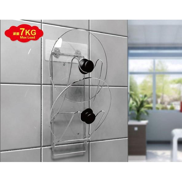 不鏽鋼雙層鍋蓋架廚房收納無痕防水不鏽鋼收納架