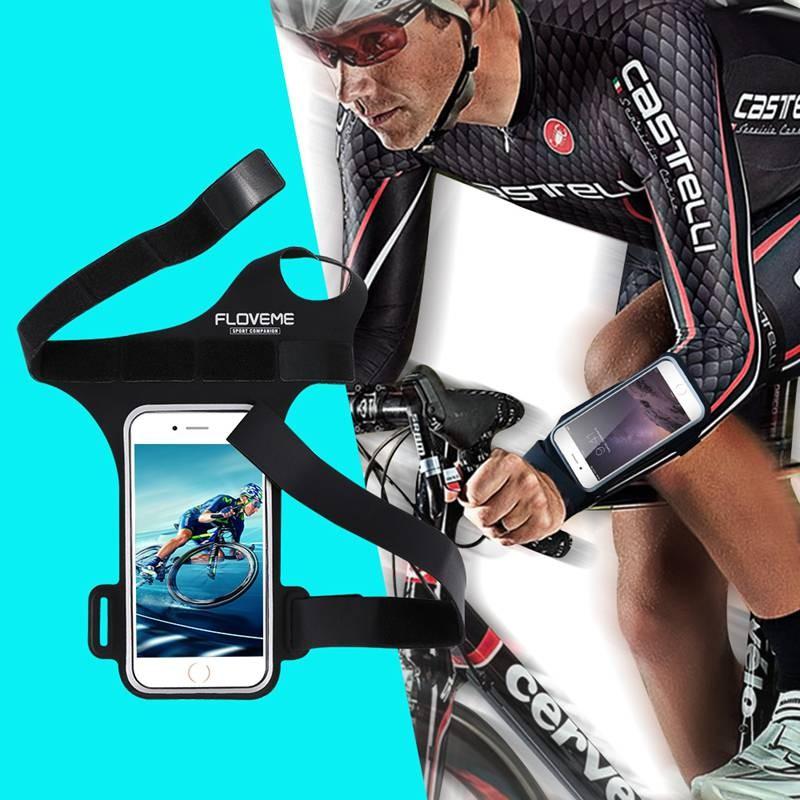 弗洛米超酷多 騎行拇指臂袋雙層卡槽耳機線孔健身跑步 手機殼手機袋