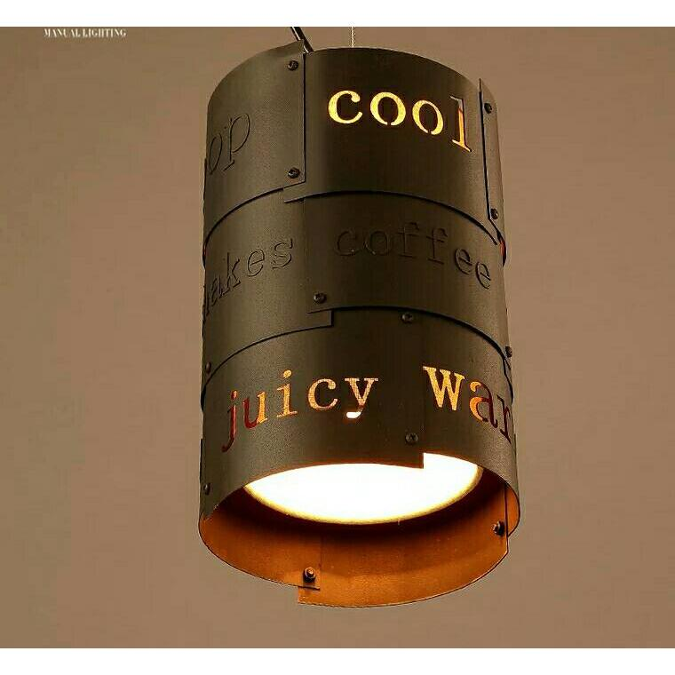 377 loft 吊燈復古咖啡廳 英文餐廳吧台酒吧過道鐵藝裝飾吊燈