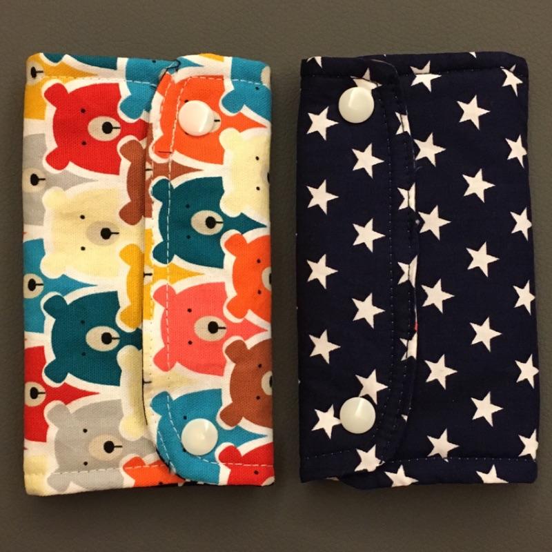 彩色熊熊藍底星星多用途口水巾(寶寶、口水巾、手作口水巾、背巾口水巾、雙面口水巾)