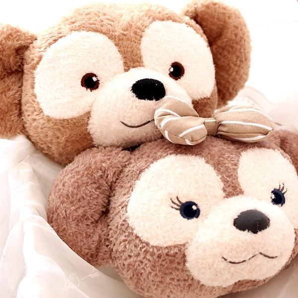 達菲熊雪莉玫頸部用枕頭達菲熊小靠枕雪莉玫小抱枕汽車用頸枕U 行枕外出旅行U 行枕頭達飛熊空