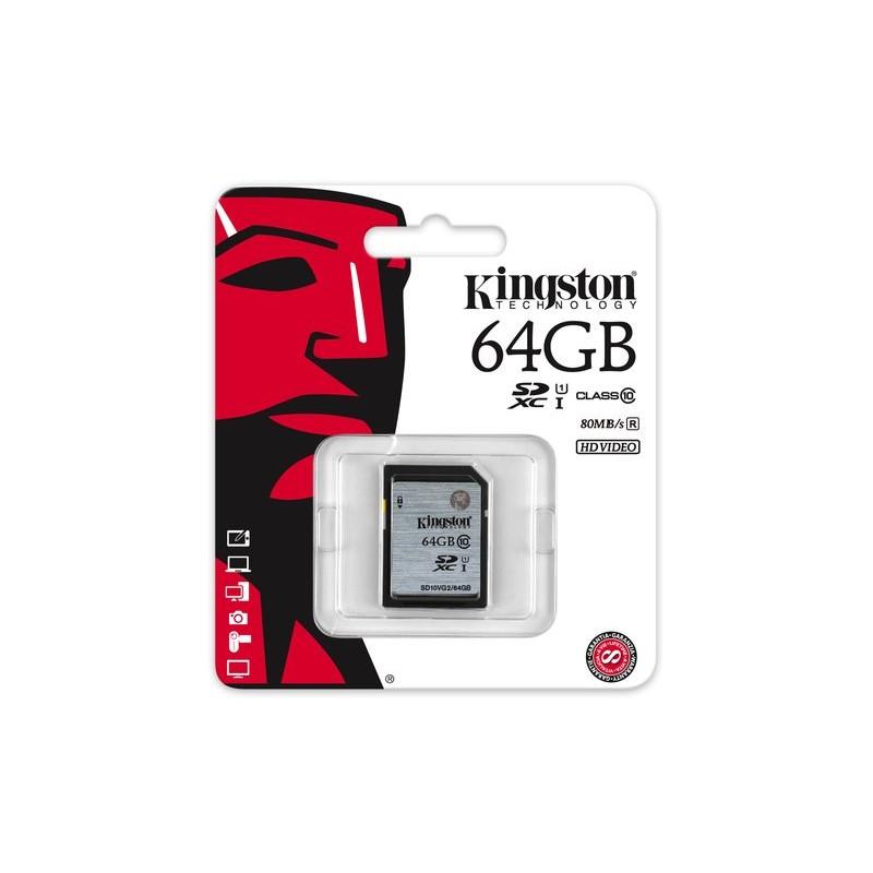 《SUNLINK》KINGSTON 64GB 64G SDXC【SD10VG2/64G 80MB】 C10