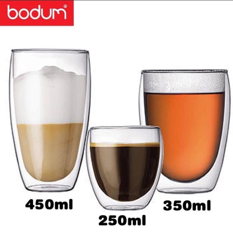 bodum 雙層耐熱玻璃杯咖啡杯花茶杯果汁杯飲料杯 隔熱波頓水杯