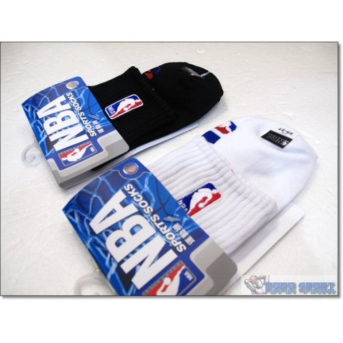 創信NBA 襪短筒襪電繡LOGO 籃球襪白黑兩色
