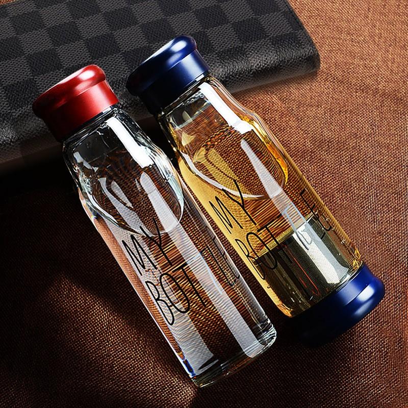 送潛水杯套韓國 My bottle 玻璃杯高硼硅耐熱玻璃杯帶茶漏泡茶杯兩色大小選