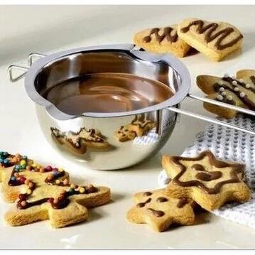 ~vivi 烘焙~304 不銹鋼 巧克力鍋隔水加熱融化碗烘焙巧克力融化鍋奶油加熱融化碗