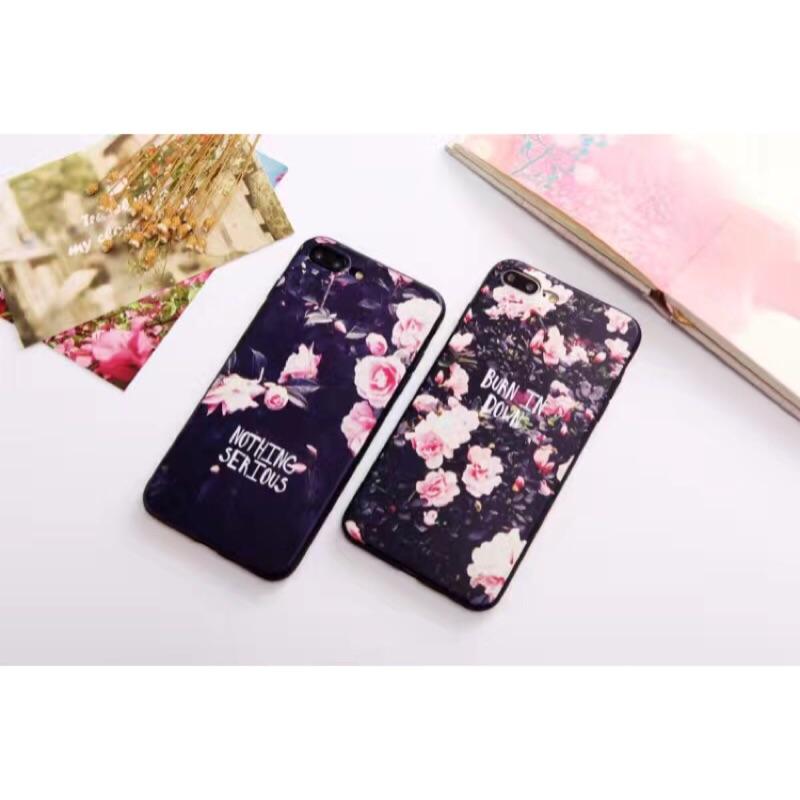 iphone 手機殼花朵浮雕防摔保護蘋果軟殼iphone6 6s iphone6p 6sp