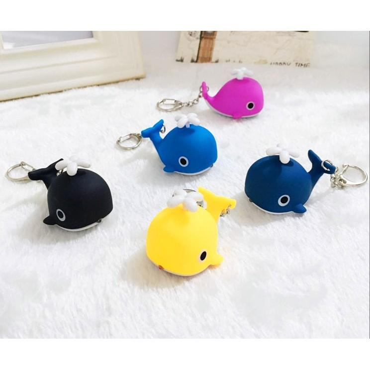 Ke033 可愛Q 版鯨魚鑰匙圈鈴鐺鑰匙鏈包包汽車掛件皮繩掛飾生日 〃