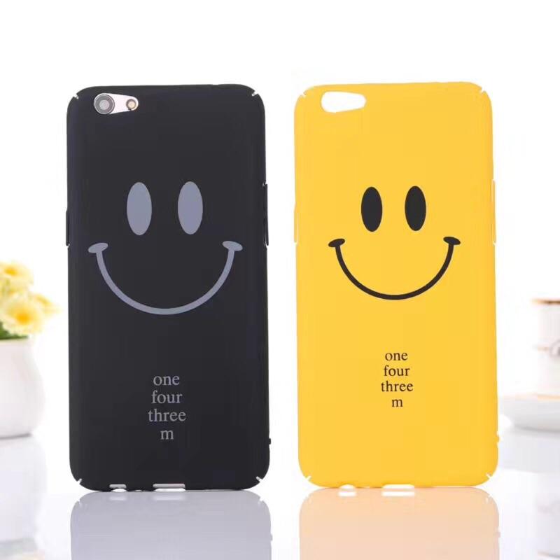 日韓簡約NICE 笑臉字母a59 手機殼iPhone7 手機殼蘋果6s OPPO R9 R