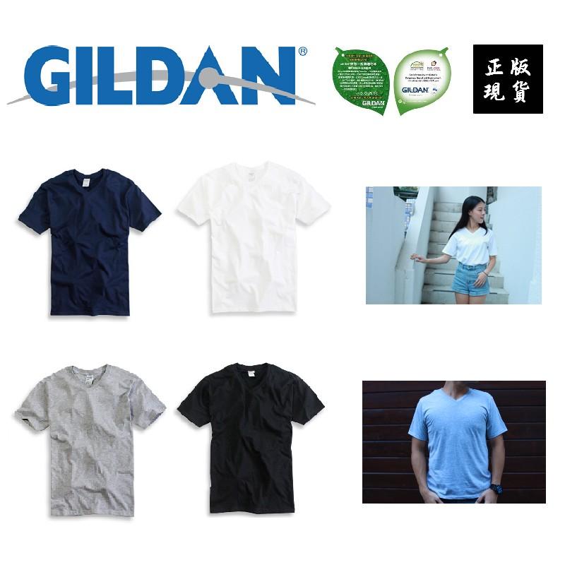 V 領素T Gildan 素T T 恤短T 素面T 短袖素踢短踢素面短T 白T 黑T 男生