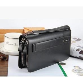 大容量真皮錢包男士長款錢包手拿包拉鏈錢包男多 多卡位錢包郵